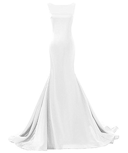 Più Backless Delle Ballo Paletta Dimensioni Bianco Donne Vestito Del Abiti Sirena Drehouse Sera Da Lunga Da vOgnWTzwqx