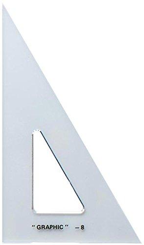 Alvin 12 Academic Transparent Triangle 30°/60°
