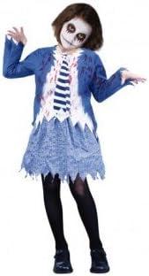 Partilandia Disfraz Zombie Colegiala Azul para niña(4-6 años ...