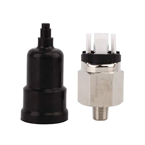 - SNS QPF-N1 1/8 Inch Male Thread Pneumatic Adjustable Diaphragm Type Pressure Switch Normally Open and Closed Integrated