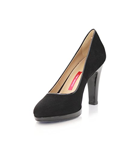 schwarzem Black Pumps Square Women's MIT Wildleder Diamond Absatz Size 9cm Heels Lackleder Pump 7 Schwarz q7Ttz0zw