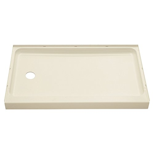 (STERLING 72171110-96 60-Inch Shower Base Vikrell Left Drain, Biscuit)