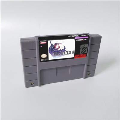 Game card - Game Cartridge 16 Bit SNES , Game Final Fantasy IV 4 - RPG Game Cartridge Battery Save US Version