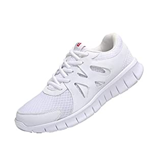 MAIITRIP White Sneakers for Men,Slip Resistant Shoes for Men,Non Slip Work Athletic Gym Training Shoes,Tennis Sports Workout Running Walking Sneakers,Size 8.5