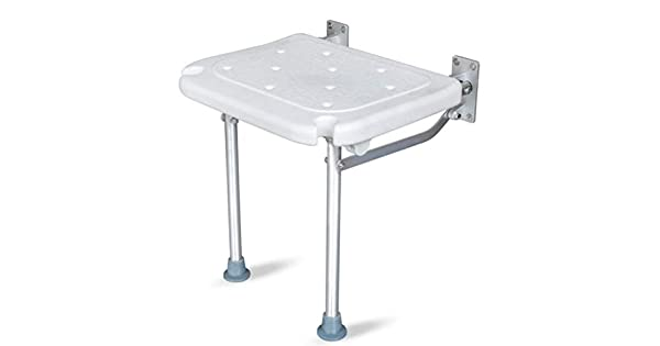 Amazon.com: Taburete de baño, plegable, color blanco, para ...