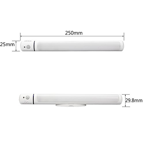 3-Pack Leadleds 5-LED Motion Sensor Light, Battery Operated Closet Light With Magnetic Strip Stick On Anywhere, Auto/ON/OFF Switch Portable Night Light for Kids, Cabinet, Hallway, Stairs by Leadleds (Image #3)