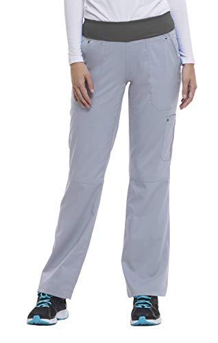 healing hands Purple Label Yoga Women's Tori 9133 5 Pocket Knit Waist Pant Grey/Pewter- X-Large Petite