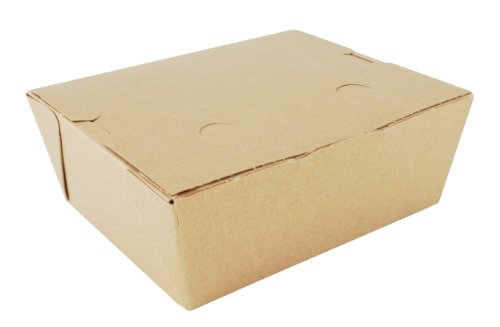 Southern Champion Tray 0738 #8 ChampPak Classic Take-Out Container, Kraft Paperboard with Poly Coated Inside, 6