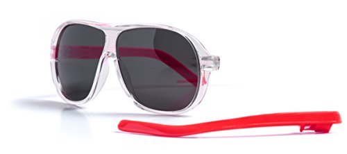 Slydz Kids Aviator Polarized Sunglasses (Clear) for Toddler Boys and Girls Age - Kds Sunglasses