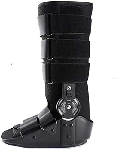 Miwaimao - Tobillera ortesis médica, fractura de pantorrilla, material de polipropileno extraíble, con airbag, color negro