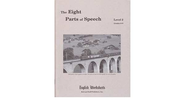 The Eight Parts of Speech, Level 2, Grades 6-8, English Worksheets ...