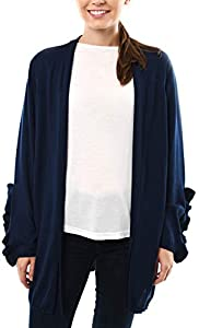 Sweepstakes: Fever Long Cardigan Sweater with Ruffle…
