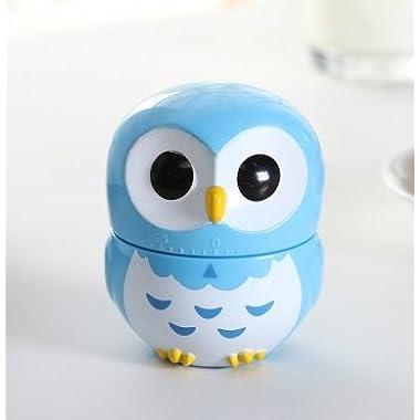 SIS Owl-shaped Mechanical Kitchen Timer,reminder (Blue)
