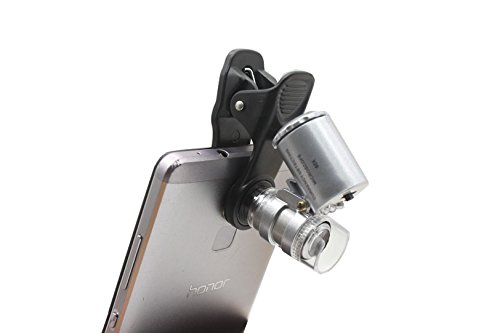 Amazon com: 60X Zoom Mobile Phone Camera Optical LED UV Clip
