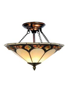 Dale Tiffany TH10493 Tiffany Pebblestone Ceiling Light, Antique Bronze and Art Glass Shade (Tiffany Stones Mount)