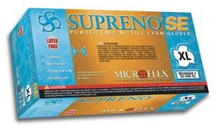 Microflex Light - Supreno SE Nitrile Exam Gloves by Microflex Size Extra Large