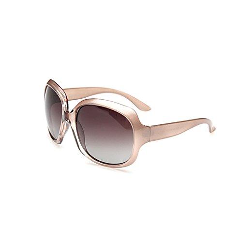 Samuel Retro Women Polarized UV400 Full-rim Gradient Oversized Sunglasses (Streamline Polarized Sunglasses)