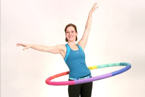 Sports Hoop Weighted Hoop, Weight Loss ACU Hoop 4M - 4lb (40 inches Wide) Medium, Weighted Fitness Exercise Hula Hoop 6
