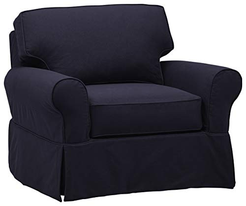 Stone & Beam Carrigan Casual Living-Room Chair, 45″W, Navy