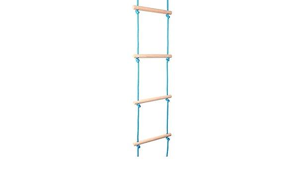 Alomejor Escalera de Cuerda de 11.8 Pulgadas Escalera de Cuerda Blanda para Juegos Infantiles Escalera de Cuerda de Madera: Amazon.es: Deportes y aire libre
