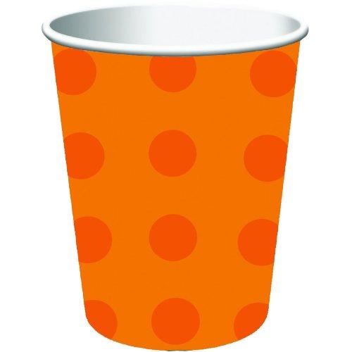 Creative Converting 8 Count Hot/Cold Cups, 9 oz, Tonal Dots