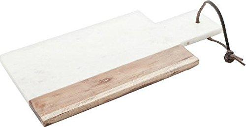 COSY TRENDY 8931736 & -Tagliere per formaggi, Marmo bianco%2FBrun 30 x 15 cm Cosy & Trendy