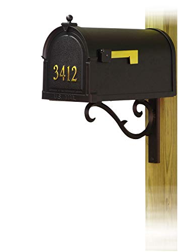 - Special Lite Products Company Berkshire Curbside Mailbox with Front Address Numbers and Sorrento Front Single Mailbox mounting Bracket