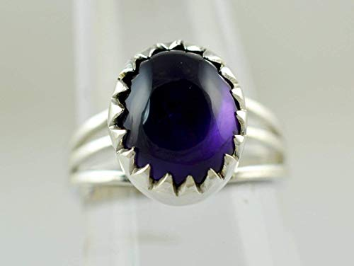 Amethyst Silver Ring Ring Silver Ring Gem Stone Ring Handmade ring 925 Solid Sterling Silver Ring Size 3 to 13 US
