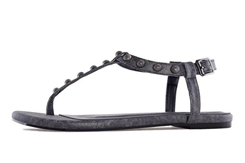 Grey Andres Machado Sandals Thong Grey Women's 7TwX7