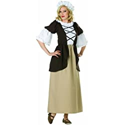 RG Costumes Women's Colonial Peasant Lady, Brown/Tan, 8-10/Large