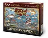 Catch the Experience 500 Piece Fishing Puzzle for the Modern Day Explorer by American Expedition