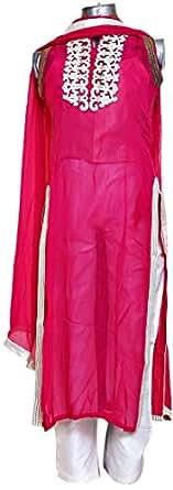 Silhoutte Pink Festive Kurta & Churidar Set For Women
