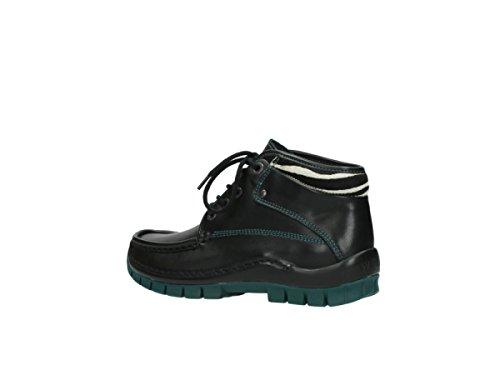 Donna 203 grün Schwarz Sneaker Leder Nero Wolky FUAH5qSwqx