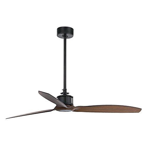 JUST FAN Black/wood ceiling fan with