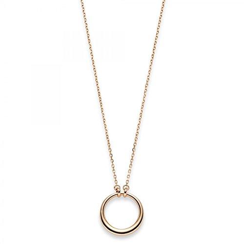 Collier avec anneau Cercle Collier Bijoux Chaîne Ancre en or 585or rouge-42-45cm