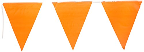Indoor/Outdoor Pennant Banner (orange) Party Accessory  (1 count) -