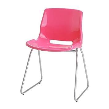 Schreibtischstuhl ikea pink  IKEA SNILLE -Besucher- Stuhl rosa: Amazon.de: Küche & Haushalt