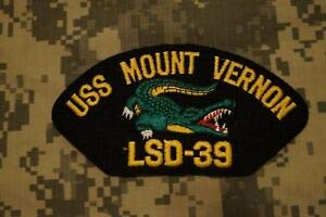 New US Navy USS Mount Vernon LSD-39 w/Alligator Embroidered Cap Military Patch by HighQ Store