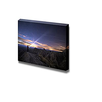 Beautiful Scenery Landscape Lighting Up The Night Over Bardenas Spain Wall Decor, With Expert Quality, Majestic Expertise