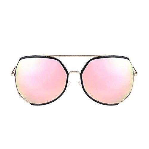 Marco Sol Gafas DT Cara Sol Femenina Redonda Protección de Color 5 de UV de Larga de Grande Cara Gafas HI8qw8Bx
