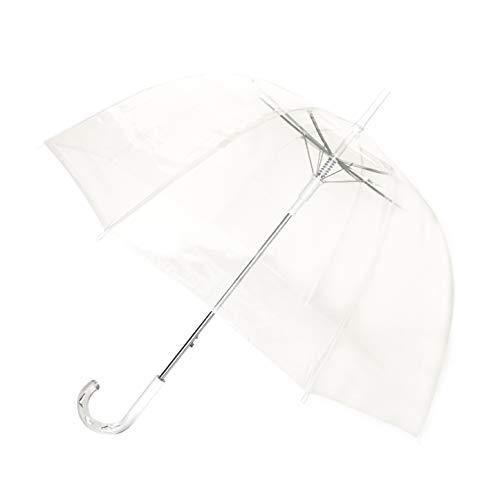 SMATI Stick Clear Umbrella - Birdcage Dome See Through (Clear Wedding)
