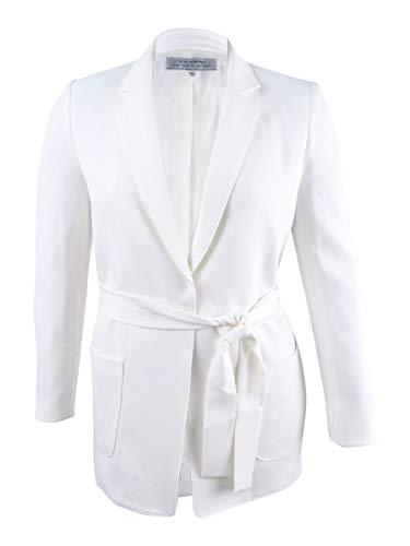 (Tahari ASL Women's Belted Crepe Jacket (12, Ivory White))