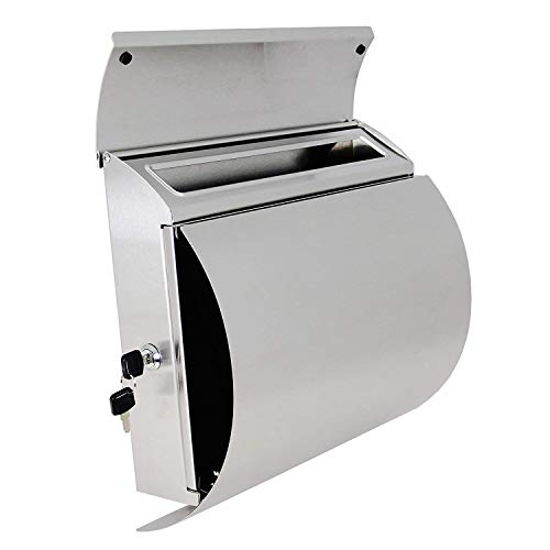 - AMOYLIMAI MPB027 New Semi Curve Lockable Mailboxes Stainless Steel Mail Boxes Modern Urban Style - QUALITY IS TOP, ANTI-RUST, STURDY AS REVIEWS FROM CLIENT