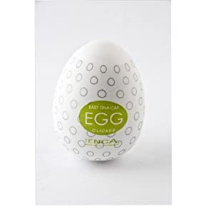 Tenga Egg Clicker White Silicone Based Sexual Lubricants