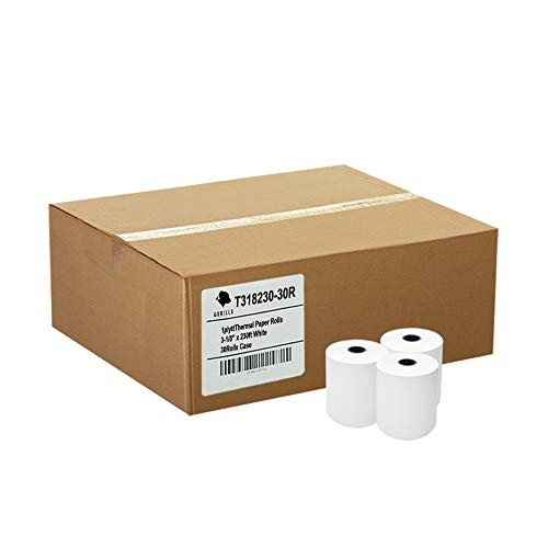 - Gorilla Supply (30) 3-1/8 x 230' Thermal Paper Rolls TM-T88 T-20 T-90 Bixolon SRP-350 370