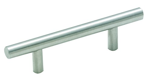 Bar Pulls 3 in (76 mm) Center-to-Center Sterling Nickel Cabinet Pull - 25 Pack - - 3 Inch Centers Wide