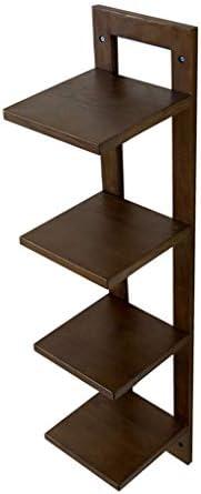 フローティング棚 フローティングウォールシェルフ4層木製壁植木鉢収納ディスプレイスタンド高品質オーク環境に優しいコーティング LFOZ (Color : Brown)