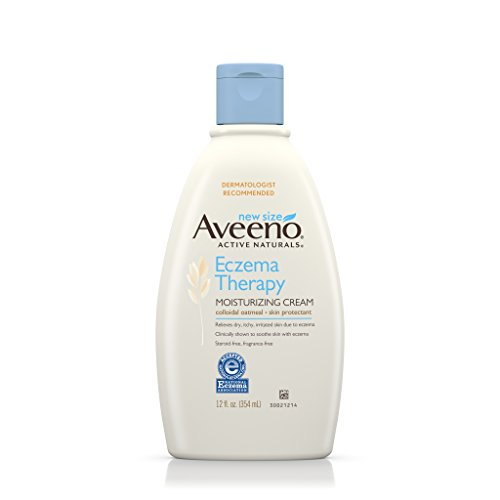 Aveeno Eczema Therapy Moisturizing Cream Relieves Irritated Skin, 12 Oz