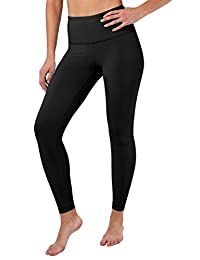 90 Degree By Reflex High Waist Squat Proof Ankle Length Interlink Leggings - Black - XS