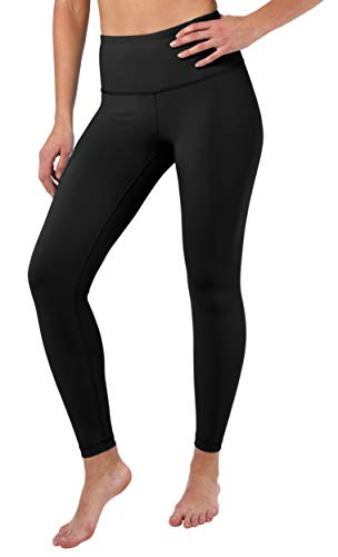90 Degree By Reflex High Waist Squat Proof Ankle Length Interlink Leggings - Black - Small